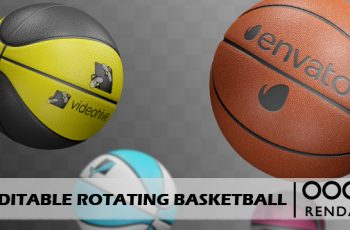 Editable Rotating Basketball - Download Videohive 16230594