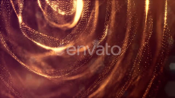 Golden Background Of Particles - Download Videohive 21581118