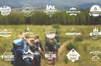 Mountain Travel And Campfire Badges - Download Videohive 10645447