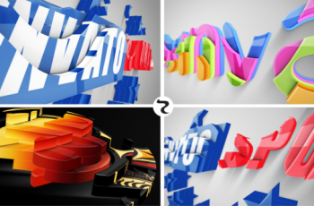 Realistic Cascading 3D Logo - Download Videohive 21979792