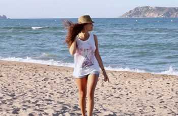 Woman Walking On The Beach - Download Videohive 8390214