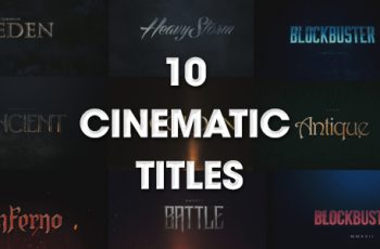 10 Cinematic Titles - Download Videohive 20164595
