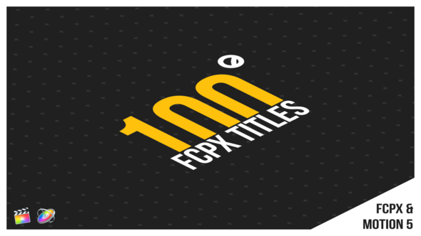 100 FCPX Titles - Download Videohive 22400035