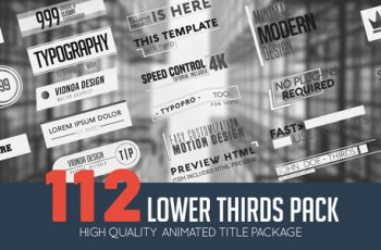 Lower Thirds Pack - Download Videohive 21165659