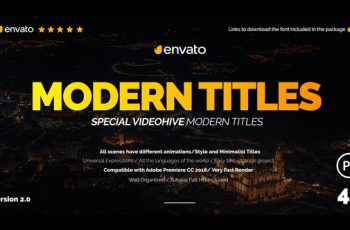 Modern Promo Titles for Premiere - Download Videohive 22000321