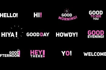 "Phrase Kinetic Typography ""Hi"" - Download Videohive 20536289"