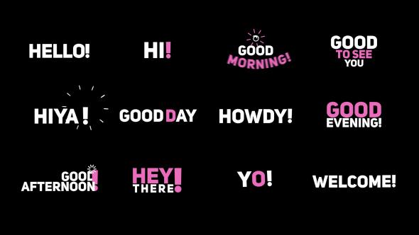 "Phrase Kinetic Typography ""Hi"" - Download Videohive 20536289"