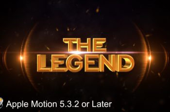The Legend - Cinematic - Apple Motion - Download Videohive 20607322