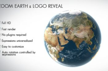 Zoom Earth and Logo Reveal - Download Videohive 7797653