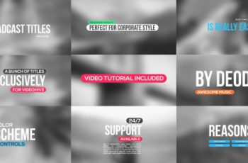 4k Titles Package - Download Videohive 17711580