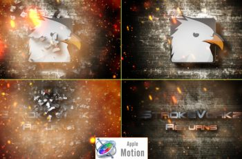 Cinematic Fire Impact Logo - Apple Motion - Download Videohive 22605959
