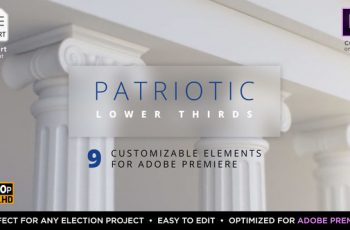 Patriotic Titles & Lower 3rds | Mogrt for Premiere - Download Videohive 22623994