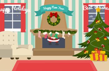 Cartoon Christmas Postcard - Download Videohive 13845198
