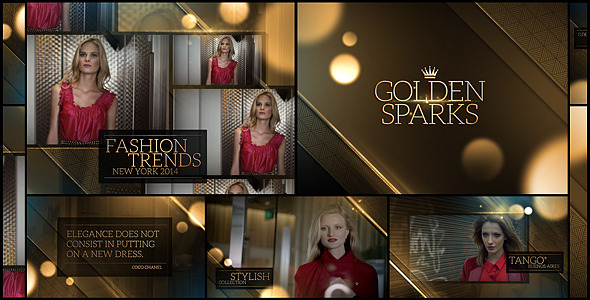 Golden Sparks - Download Videohive 7940099