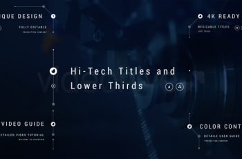 Hi-Tech Titles and Lower Thirds - Download Videohive 21972869