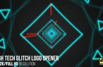 High Tech Glitch Logo Opener - Download Videohive 15965331