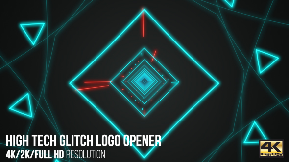 High Tech Glitch Logo Opener - Download Videohive 15965331
