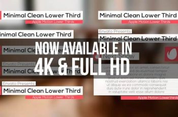 Minimal Clean Lower Third - Download Videohive 12164702