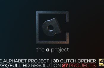 The Alphabet Project | 3D Glitch Opener - Download Videohive 18239333