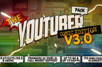 The YouTuber Pack Comic Edition V3.0 - Download Videohive 22745238