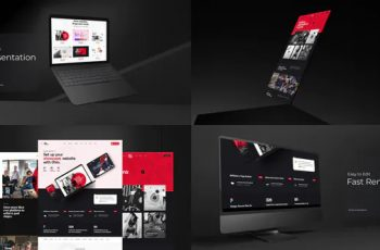 [Group Buy] Animated 3D Mockup for Website Presentation Videohive 28251032