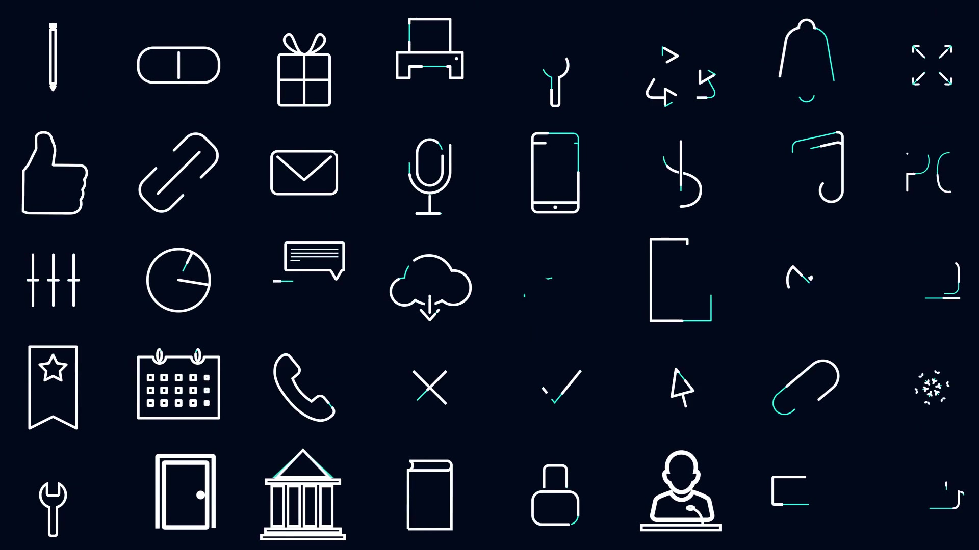 100 line Icons Set - Download Videohive 19923803
