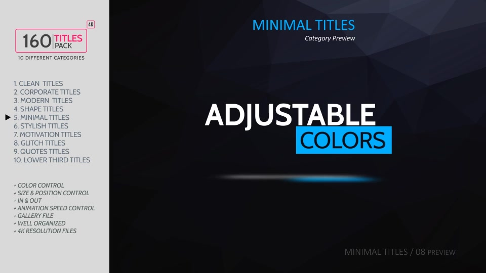 160 Titles Pack Different Styles - Download Videohive 17321741