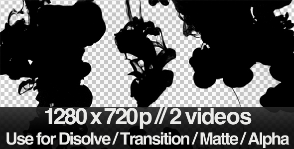 2 Ink Flowing in Water Transition / Matte / Mask - Download Videohive 159377