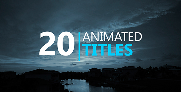 20 Animated Titles - Download Videohive 16064202