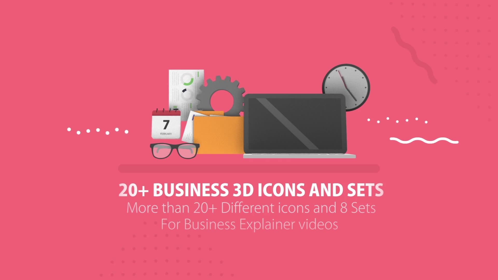 20+ Business 3D Icons - Download Videohive 19487454