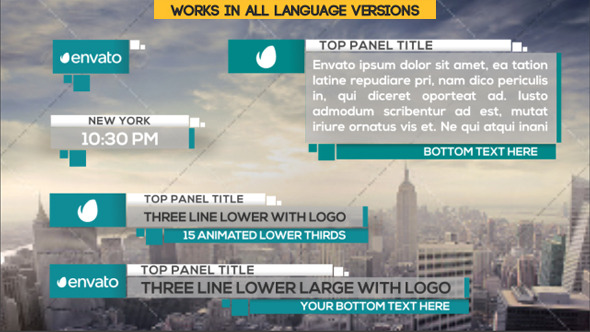 21 Clean Lower Thirds Download Videohive 9282796