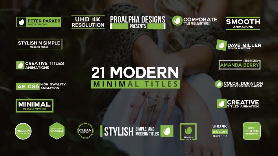 21 Modern Titles - Download Videohive 20306047