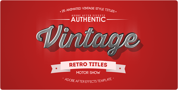 25 Animated Vintage Titles - Download Videohive 13800958