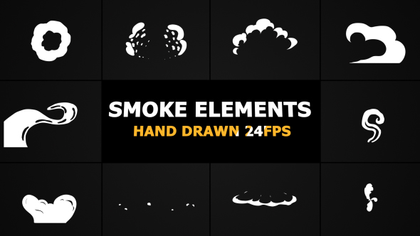 2D FX Smoke Elements 24 Fps - Download Videohive 21113941