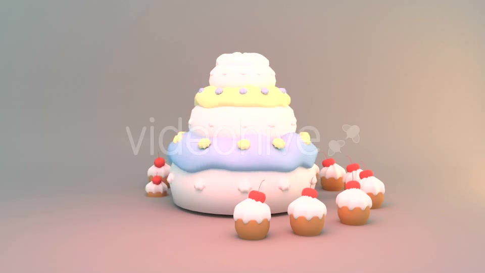 3 Tier Birthday Cake Download Videohive 14955363