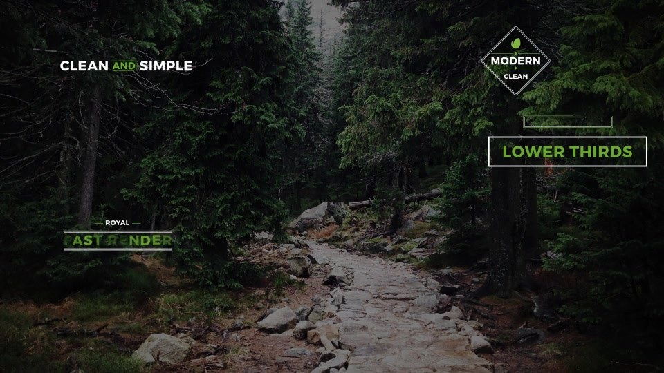 30 Clean Lower Thirds - Download Videohive 19487468