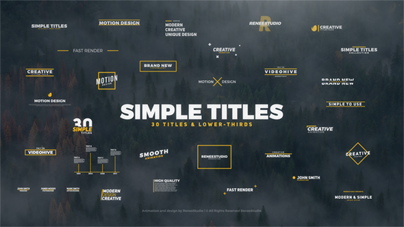30 Simple Titles - Download Videohive 19937559