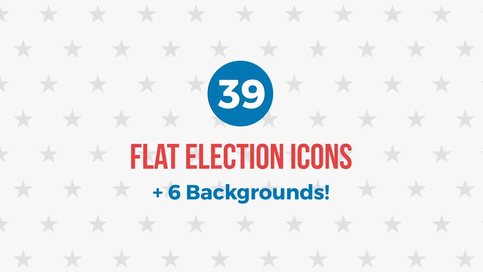 39 Flat USA Election Icons - Download Videohive 18394184