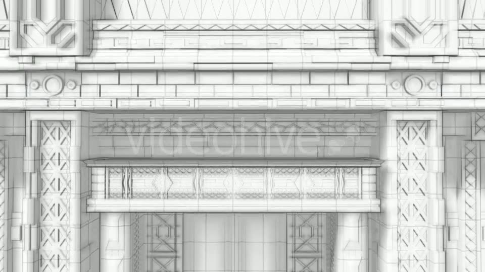 3d Architectural Sketch Background - Download Videohive 19206924