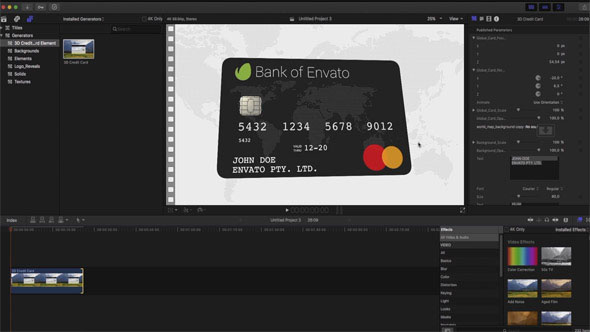 3D Credit Card Builder - Download Videohive 18728527