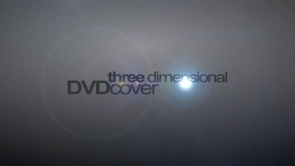 3D DVD cover mock up - Download Videohive 54011