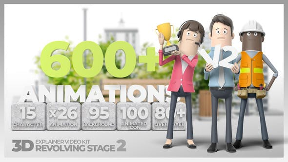 3D Explainer Video Kit Revolving Stage 2 - Download Videohive 28824485