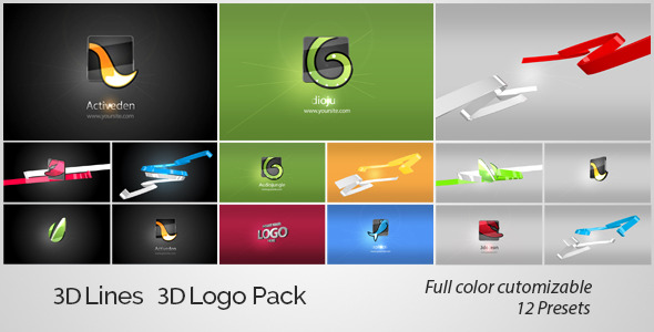 3D Lines 3D Logo Pack - Download Videohive 4410126