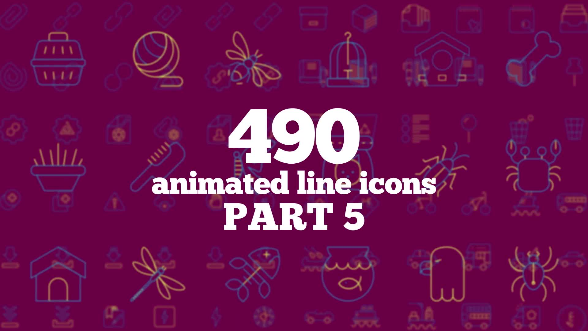 490 Animated Line Icons Videohive 23629751 After Effects Image 1