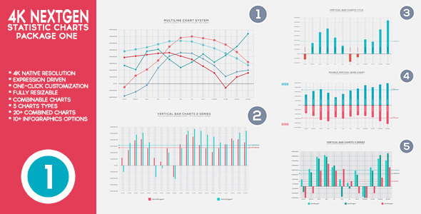 4K NextGen Resizable Statistics Charts Pack One - Download Videohive 13917995