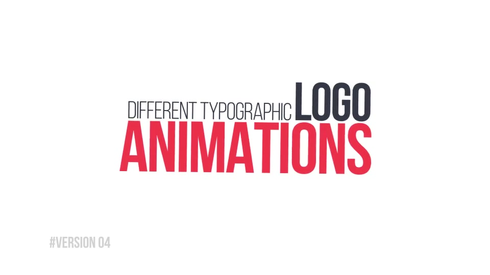 5 Typographic Logos Openers Videohive 10766094 After Effects Image 10