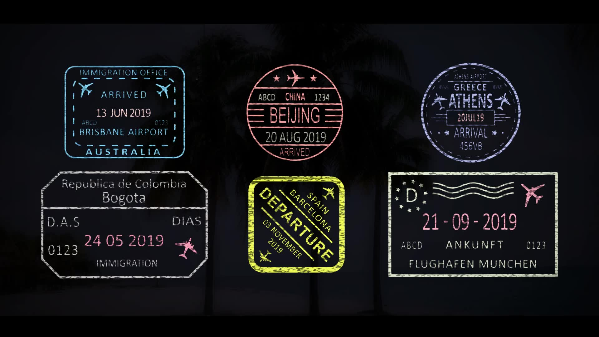 50 Travel Stamps Videohive 23673412 After Effects Image 7