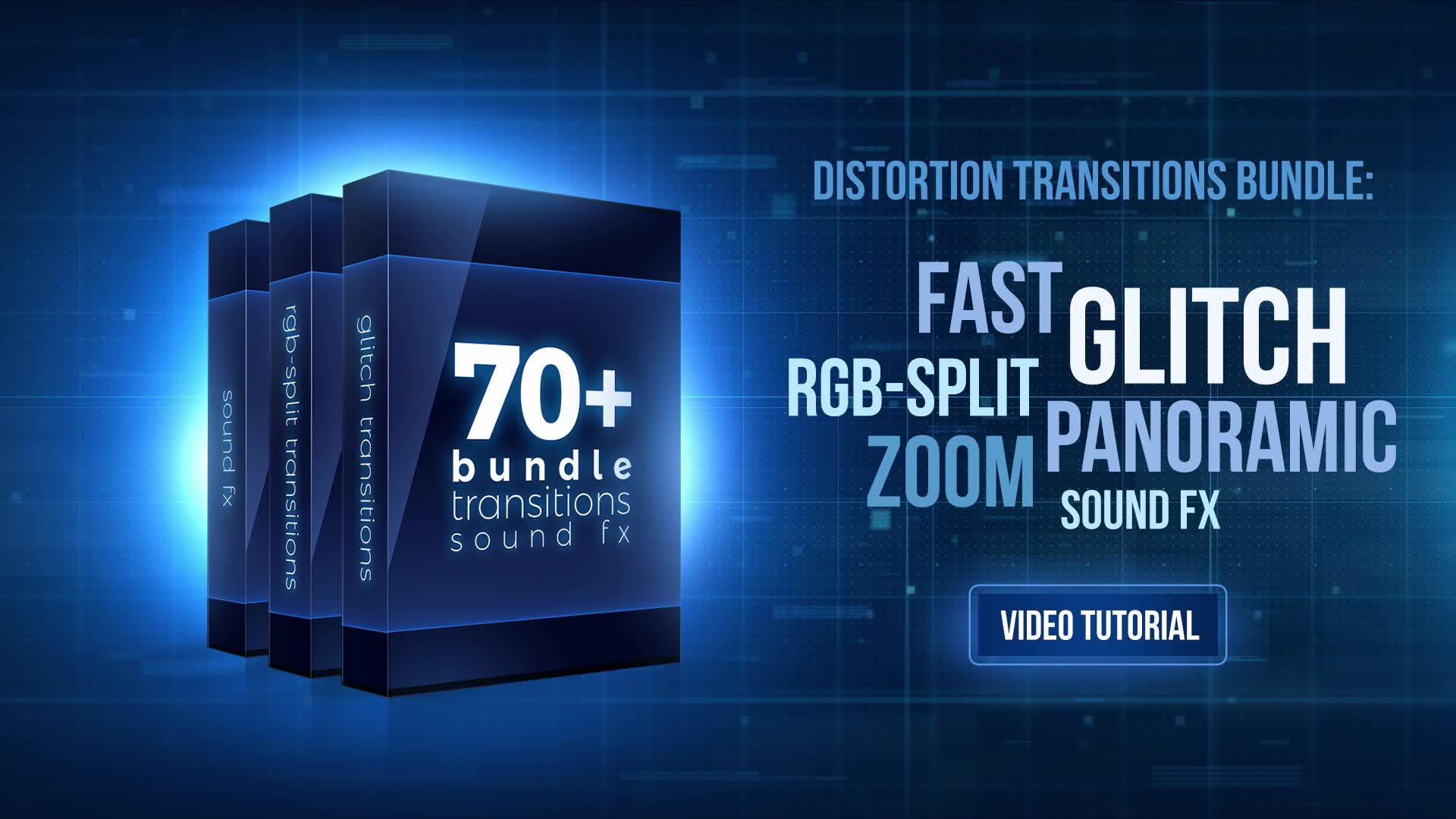 70+ Bundle: Glitch and RGB split Transitions, Sound FX - Download Videohive 21470574