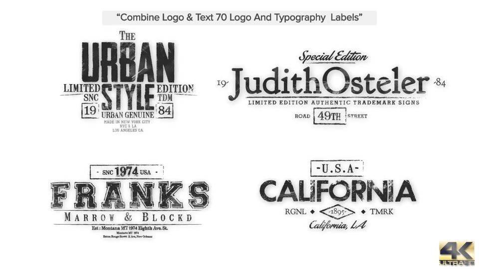 70 Grunge Titles & Logo Pack, Brush Toolkit - Download Videohive 14276503