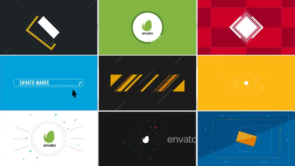 9 Flat Logo Openers - Download Videohive 13897762